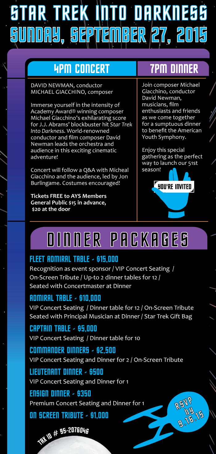 Star Trek Into Darkness | Sunday September 27, 2015 | Royce Hall